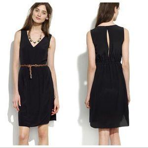 Madewell Tailored Silk Dress - Black - Size 4
